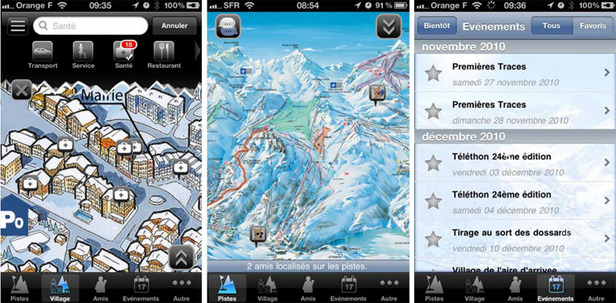 Application iPhone Val d'Isère Ski Guide