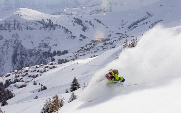 Freeriding in Champery, Portes du Soleil, France  - © Champery Tourist Office