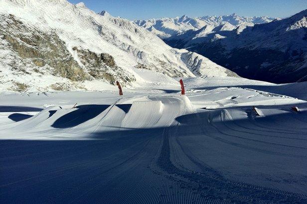Snowpark en Saas Fee  - © Mathias Veggerby