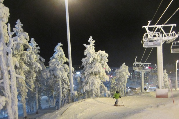 Skiing with the ghost trees in Lapland  - © Patrick Thorne