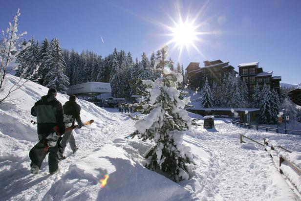 Direction les pistes de ski des Arcs