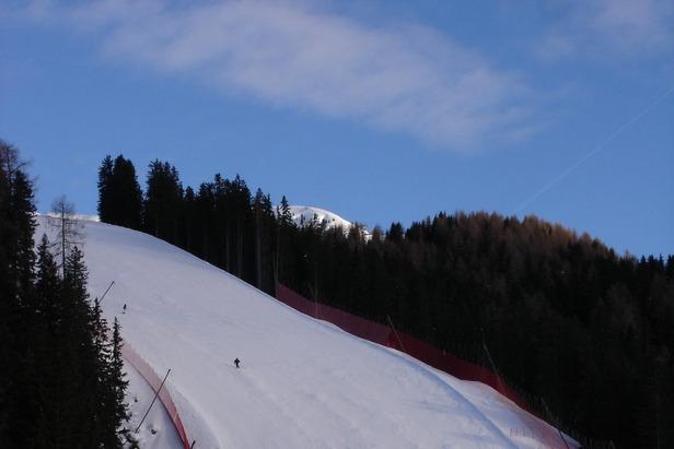 Val Gardena - Il muro principale della Saslong, la pista di Coppa del Mondo  - © A. Corbo