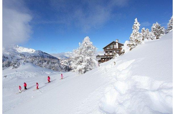 150 km di piste innevate nella Skiarea Campiglio Dolomiti di Brenta ©www.valdisole.net