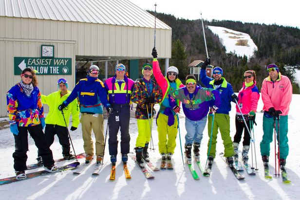 80s day at Loon Mountain brings out some interesting outfits.