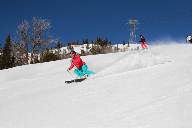 Smearing turns at Jackson Hole. - ©Patrick Nelson/Jackson Hole Mountain Resort