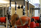 Ski Exercises: Back Extension & Dumbbell Row