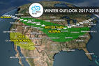 17/18 Ski Season Long-Range Weather Forecast - © Meteorologist Chris Tomer