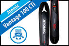 Atomic Vantage 100 CTi: Men's 17/18 All-Mountain Back Editors' Choice Ski - © Atomic
