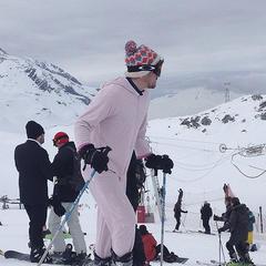 The onesie on the slopes - © Ross Huggett