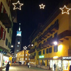 Cortina town centre at night - © Shauna Farnell