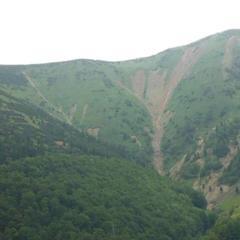 Stav vrchov Hromové a Steny vo Vrátnej doline 23.7.2014 - © Lukáš Gallo
