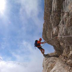 Eugen Hüsler im Costantini Klettersteig - © Eugen Hüsler