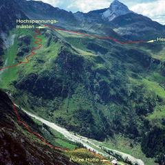 Über das Roßkar Abstieg zur Porze-Hütte - ©www.karnische-alpen.com