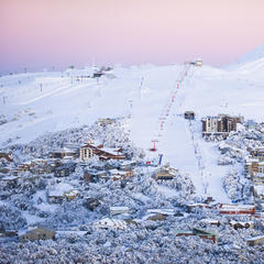 Ski above treeline at Mt. Buller for sweeping powder turns. - © Andrew Rail
