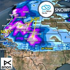 1.5 Snow Before You Go: Atmospheric River Flows 6 Feet Deep - ©Meteorologist Chris Tomer