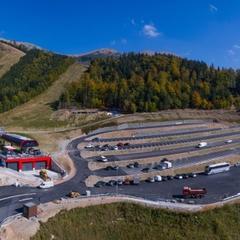 Novo vyasfaltované parkovisko v lokalite Krupová (Chopok juh) - ©TMR