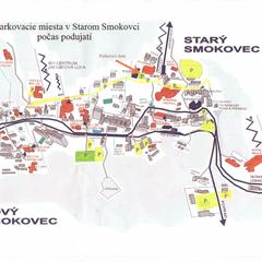 Parkovacie miesta v Starom Smokovci počas podujatia Medvedie dni na Hrebienku - © TMR