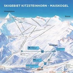Wie eine Perlenkette reiht sich die neuen Seilbahnverbindung von Kaprun aus zum Kitzsteinhorn aneinander. Ab Dezember 2019 bietet die neue Verbindung eine im gesamten Alpenraum einzigartige Panoramafahrt vom Kapruner Dorfzentrum (768 m) bis auf TOP OF SAL - © © Gletscherbahnen Kaprun AG