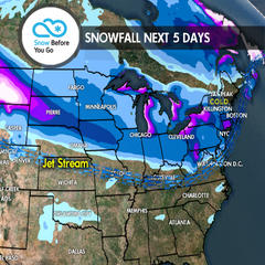 12.28 Snow Before You Go: Jet Stream & Heavy Snow Favor North - ©Meteorologist Chris Tomer