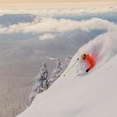 Matthias skiing powder at Mt. Hood Meadows - © Dave Tragethon / Mt. Hood Meadows
