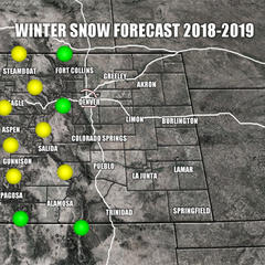 2018/2019 ski season Colorado weather forecast - © Meteorologist Chris Tomer
