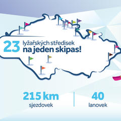 Czech Skipass - 23 lyžařských středisek na jeden skipas - © Czech Skipass