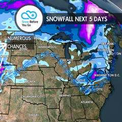 Holiday Hot Spots to See 1-4 Feet of Powder: 12.20 Snow B4U Go - ©Meteorologist Chris Tomer