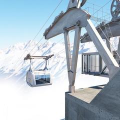 Die neue Bergstation der Falginjochbahn am Kaunertaler Gletscher - © Kaunertaler Gletscher