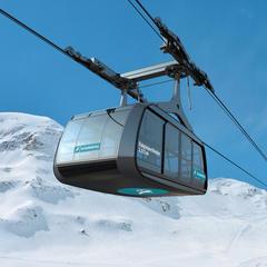 Die Falginjochbahn am Kaunertaler Gletscher wird 100 Personen in drei Minuten von der Tal- zur Bergstation bringen - © Kaunertaler Gletscherbahnen GmbH