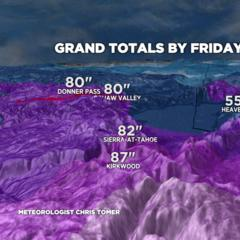 Mega Storms Drop up to 7 Feet of Snow in California and Mountains in Western US - ©Meteorologist Chris Tomer