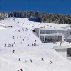 Spektakuläre Mittelstation der neuen Flying Mozart Gondelbahn - © Snow Space Salzburg Bergbahnen AG