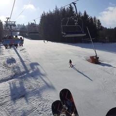 Na sjezdovkách Tanvaldského Špičáku - © facebook   Ski Aréna Jizerky