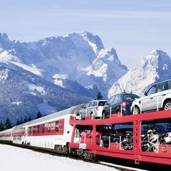 Mit dem Autozug zum Skiurlaub nach Serfaus-Fiss-Ladis - © Deutsche Bahn AG