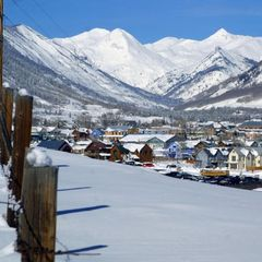 View of town in Crested Butte, Colorado