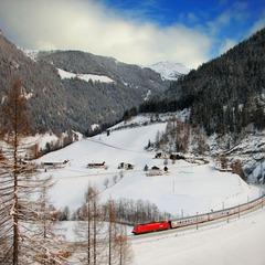Eurocity auf der Strecke zum Brenner - © Deutsche Bahn AG, Bartlomiej Banaszak