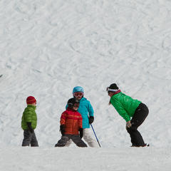 Kids lessons at Grand Targhee. Photo courtesy of Grand Targhee Resort. - © Grand Targhee Resort