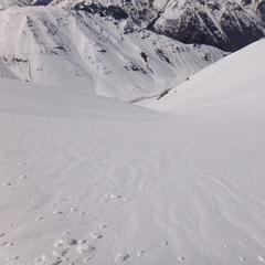 Staring down into the vast Valle Nevado terrain. - ©Valle Nevado