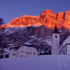 k glow of the Dolomites at sunset in Alta Badia - © Hl. Kreuz - S. Croce by Freddy Planinschek