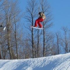 Catching air at Blackjack. - ©Blackjack Ski Resort