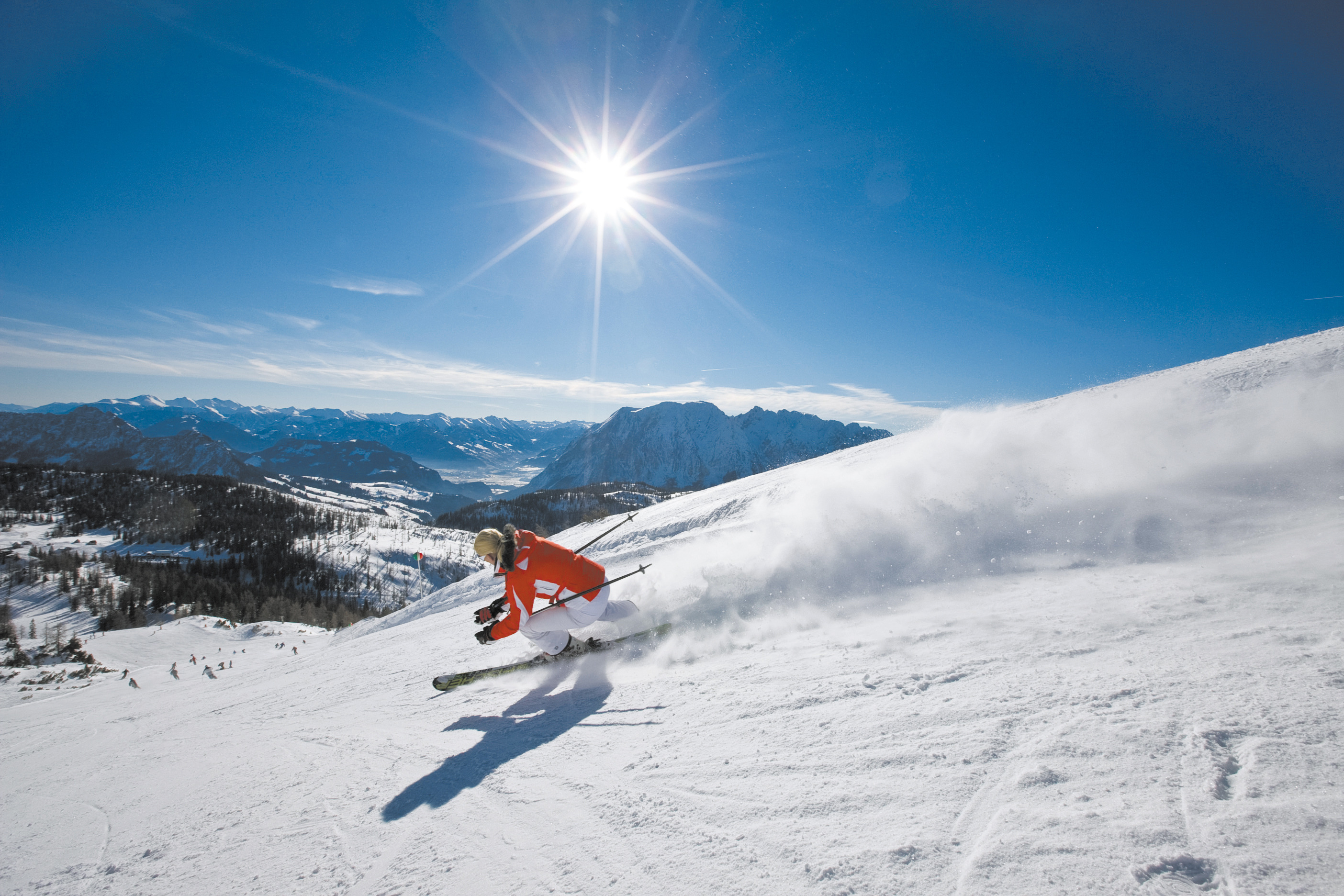 Tauplitz Österreich Skifahrer
