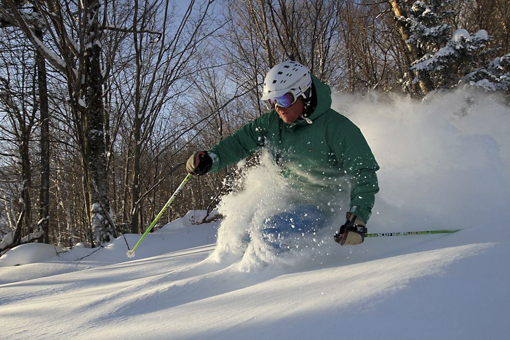 Find plenty of powder stashes between Pico's trees and Killington's steeps. Photo courtesy of Killington Resort.undefined
