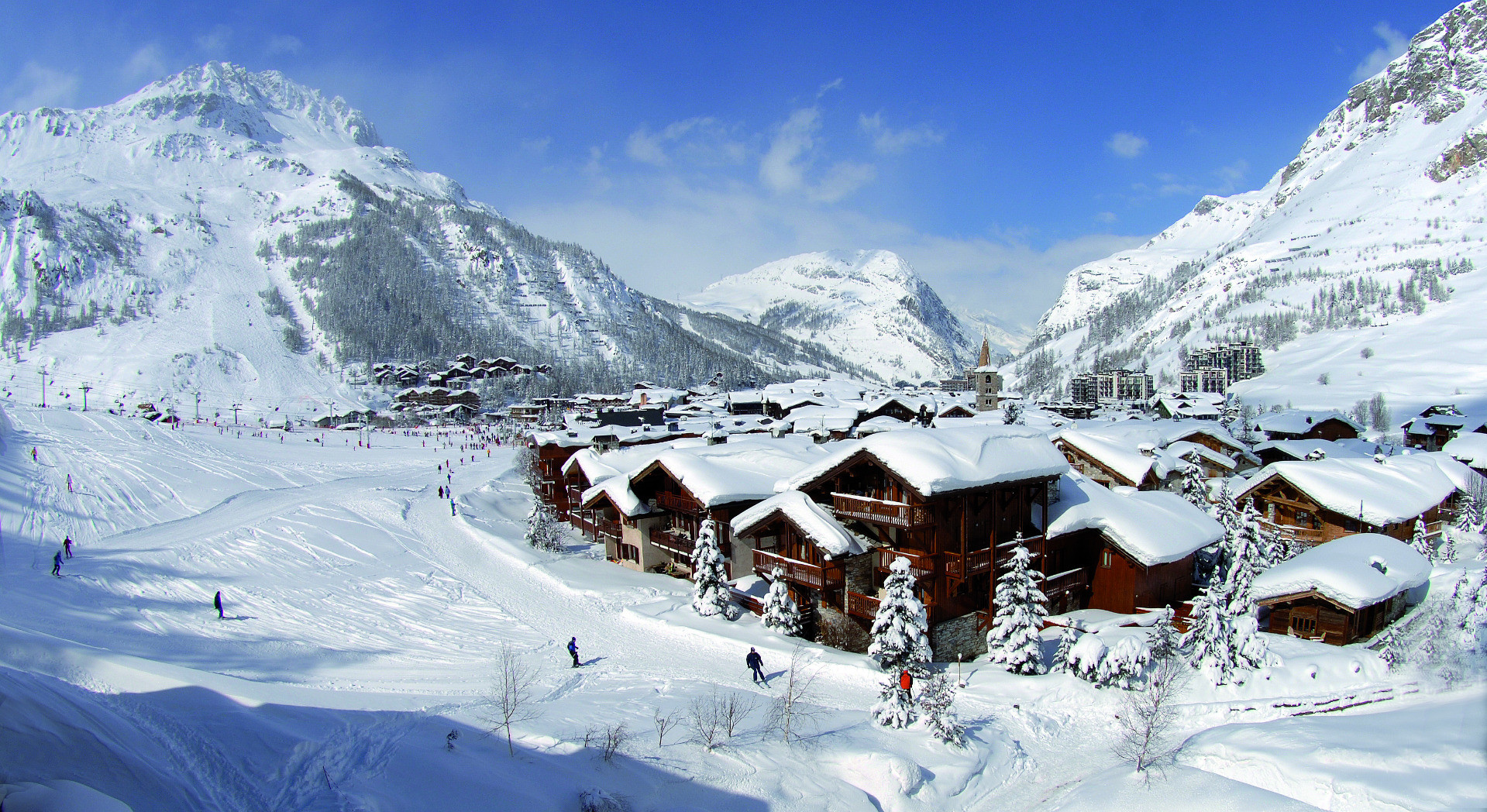 Family-friendly Val d`Isère has an excellent snow record