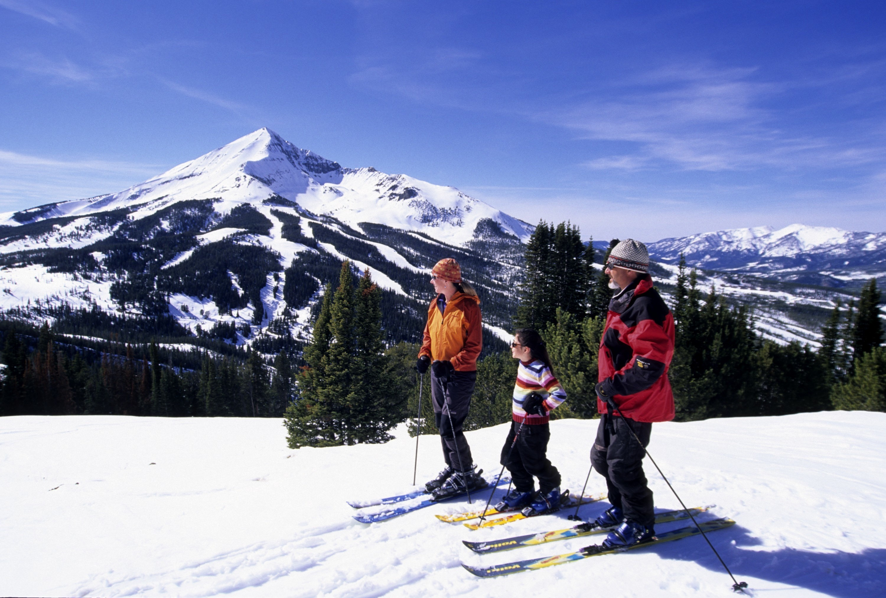 Family Skiing at Spanish Peaksundefined