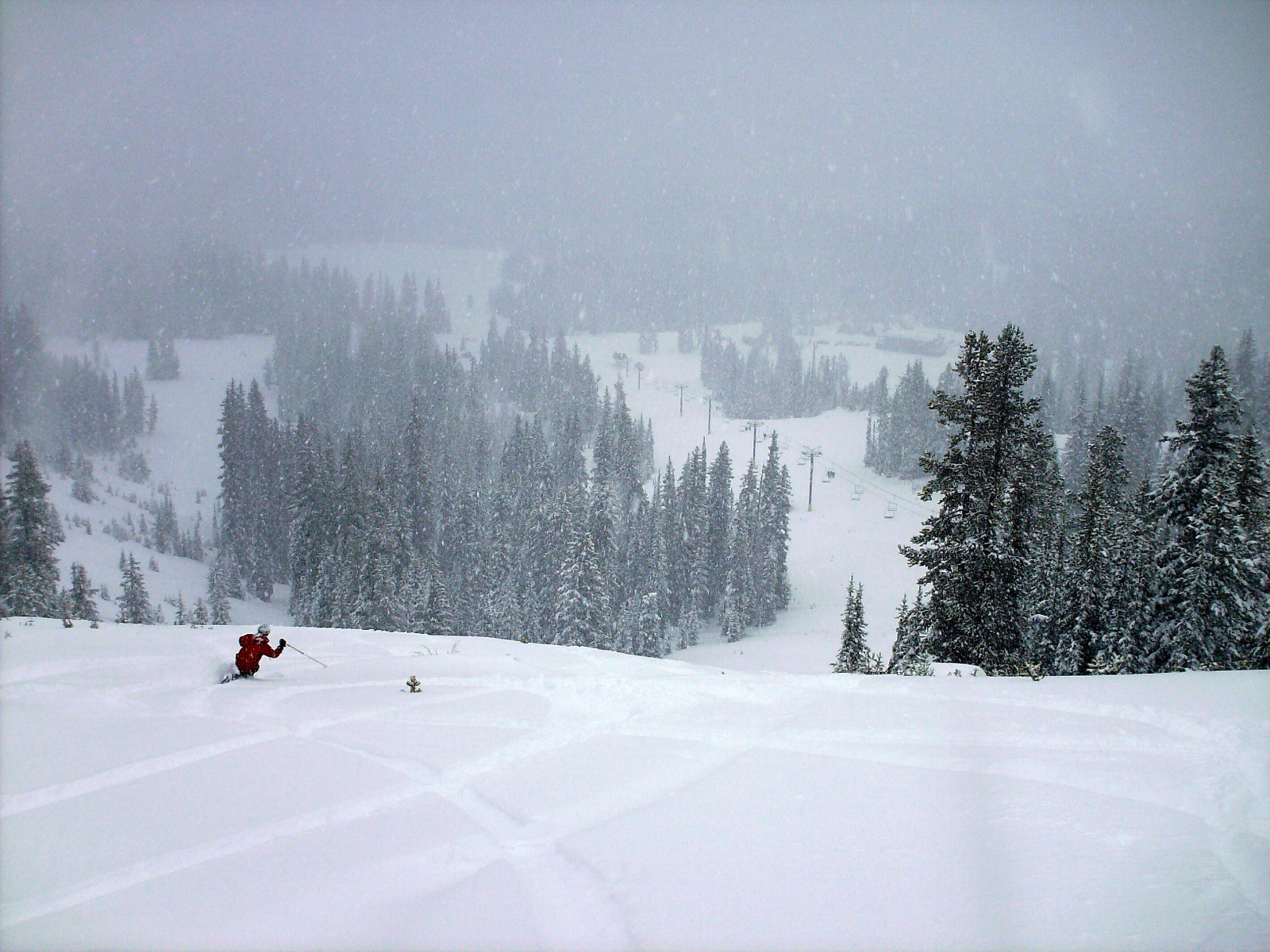 Telemarking in powder at Anthony Lakes. Photo by Brent/Flickr.undefined