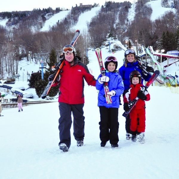 Get the family out to learn to ski or snowboard cheap during January. Photo Courtesy of Camelback Mountain Resort.undefined