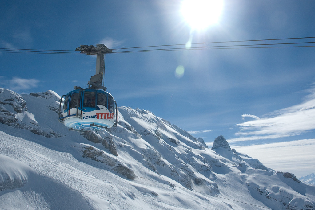Rotair cable car in Engelberg-Titlis