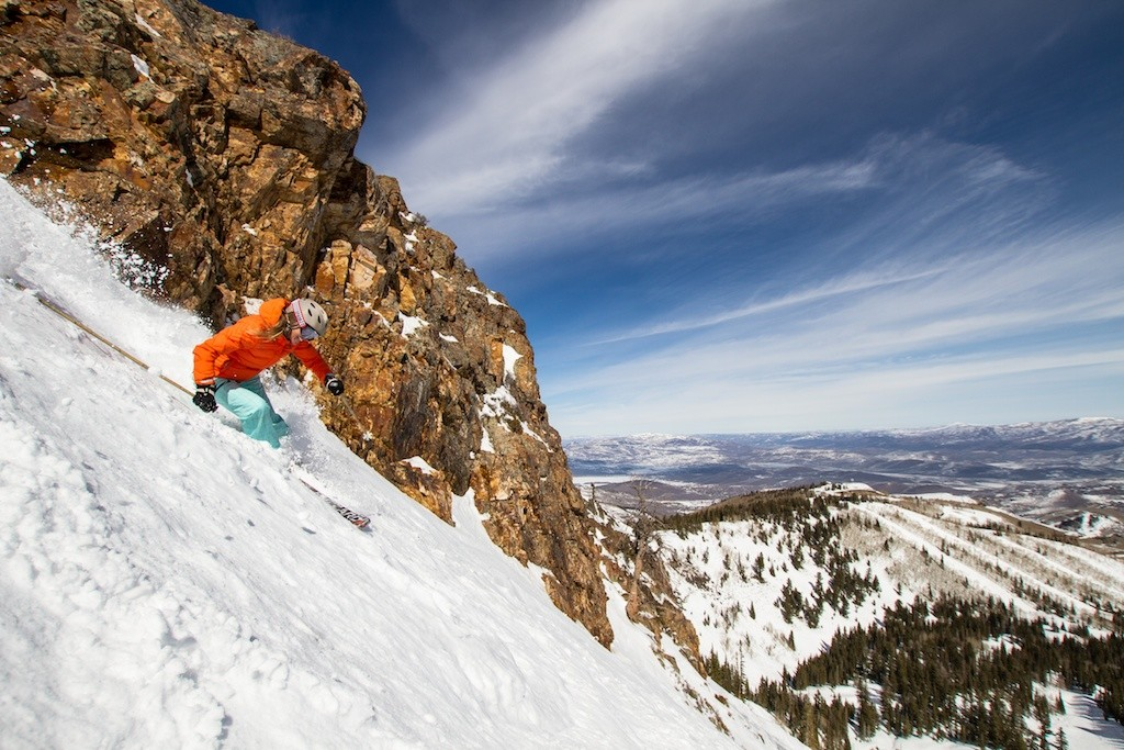 Park City local and retired pro skier Meghan Brown rips it up at Park City Mountain Resort.undefined